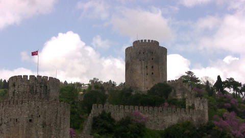 The ancient Turkish fortress Stock Video Footage