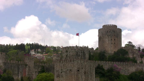 The Ancient Turkish Fortress stock footage