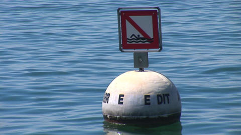 buoy in the lake Footage