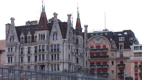 Old house in Lausanne Stock Video Footage