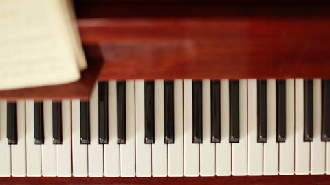Piano keyboard Stock Video Footage