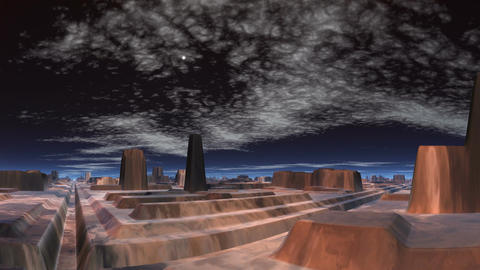 Meteor over the city of aliens Stock Video Footage