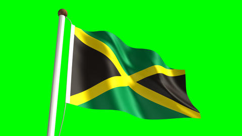 Jamaica flag Animation