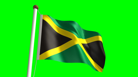 Jamaica flag Stock Video Footage