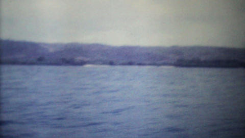 Speed Boats Passing On The Ocean 1979 Vintage 8mm film Stock Video Footage