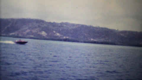 Speed Boats Passing On The Ocean 1979 Vintage 8mm film Footage