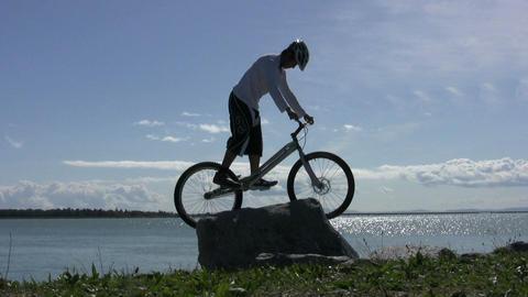 Trials Mountain Bike Jumping On Rocks 5 Footage