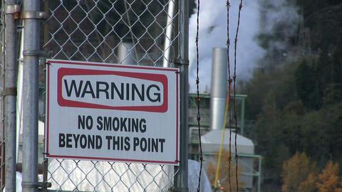 Warning No Smoking Sign Stock Video Footage