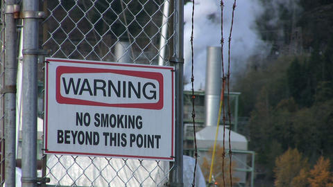 Warning No Smoking Sign Stock Video Footage