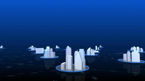 Network City 4 Cblu HD Stock Video Footage