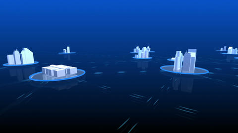 Network City 4 Fblu HD Stock Video Footage