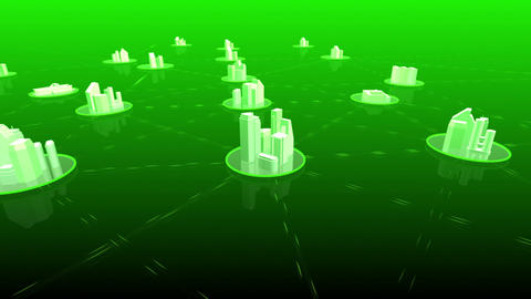 Network City 4 Hblu HD Stock Video Footage