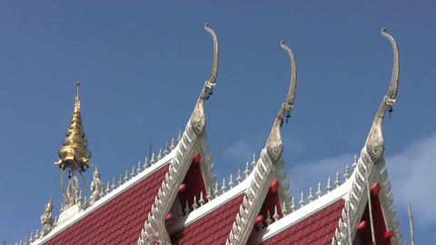 Temple Roof Stock Video Footage