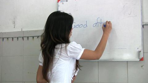 Thai Lady Teaching English Class Stock Video Footage