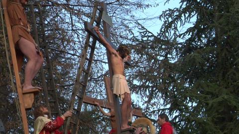 christ deposition 01 Stock Video Footage