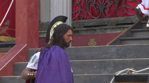 christ flagellation 01 Stock Video Footage