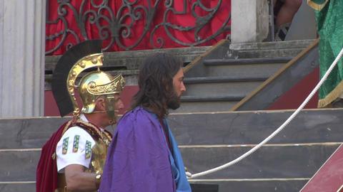 christ flagellation 01 Stock Video Footage