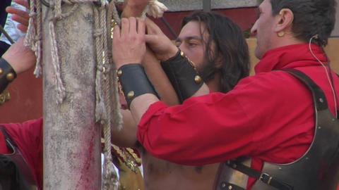 christ flagellation 03 Stock Video Footage