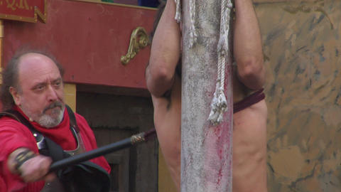 christ flagellation 05 Stock Video Footage