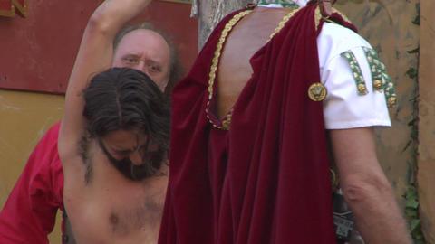 christ flagellation 05 Stock Video Footage