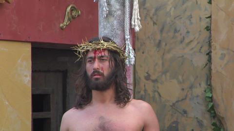 christ flagellation 07 Stock Video Footage