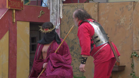 christ flagellation 09 Stock Video Footage
