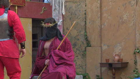 christ flagellation 09 Stock Video Footage