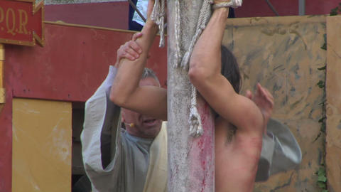christ flagellation slow motion 01 Footage