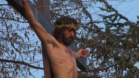 cross christ 02 Stock Video Footage