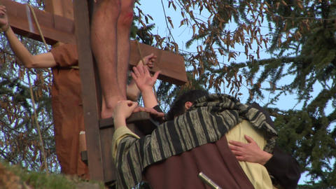 crucifixion mary john Footage