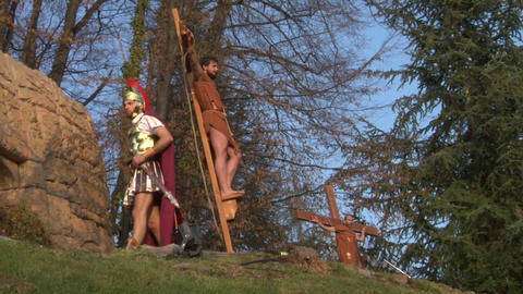 crucifixion robber legionaries 01 Footage