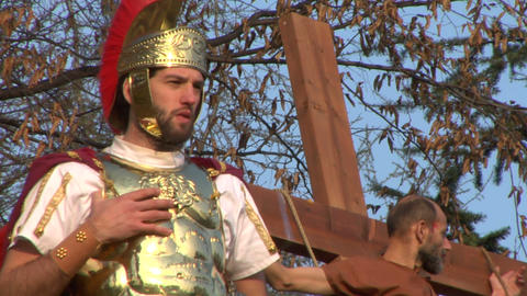 crucifixion robber legionaries 03 Stock Video Footage