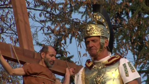 crucifixion robber legionaries 03 Stock Video Footage