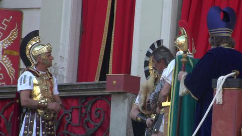 pilate tribunal barabbas caiaphas Footage