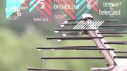 Antenna. Air digital TV and radio signal. Illustration Footage