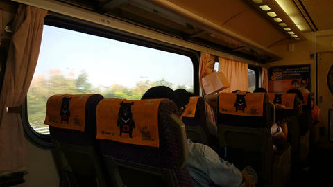 In the train from Taipei to Tamsui Footage