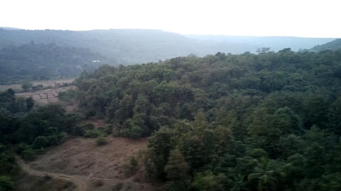 Deccan plateau 4, India, in winter. Eternal greenery Live Action