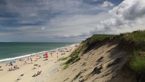 Cape Cod Sandy Neck Beach in Barnstable Footage