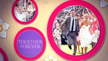 Happy Wedding Slideshow After Effects Project