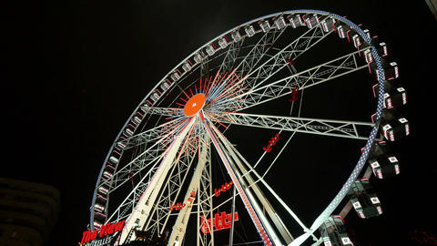 Great Classical Fair Ferris Wheel In Brussels Live Action