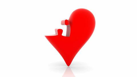 Animated puzzle create heart Animation