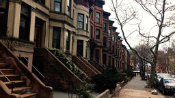 Brooklyn Brownstones And Street Footage