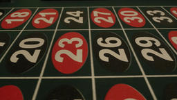 Dolly of Numbers on a Roulette Table Footage