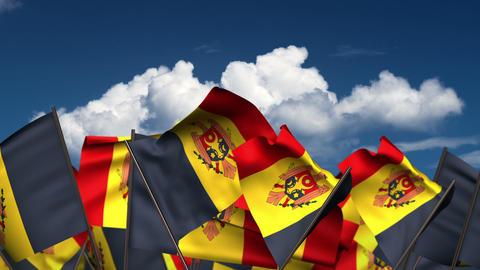 Waving Moldovan Flags Animation