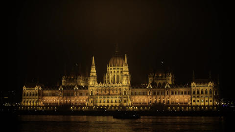Parliament at night Footage
