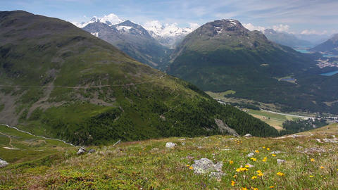 Panorama of the Upper Engadine Image