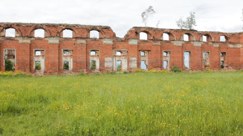 Majestic Ruins of stables and headquarters of hussars of 19th century 2 Live Action