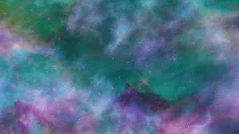 Blue and Green Space Nebula Background Animation