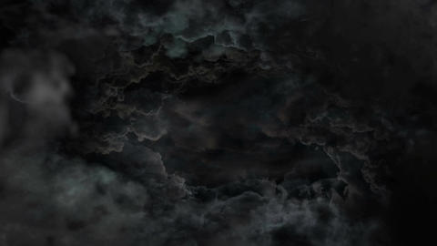 Black Dramatic Clouds Animation
