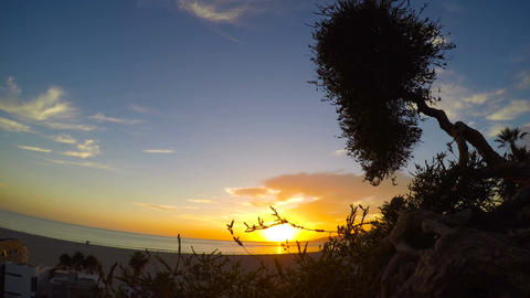 Spectacular sunset on the Pacific ocean.San Diego. California Footage